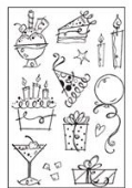 Woodware - Birthday Fun - Clear Magic Stamp Set - FRCL040